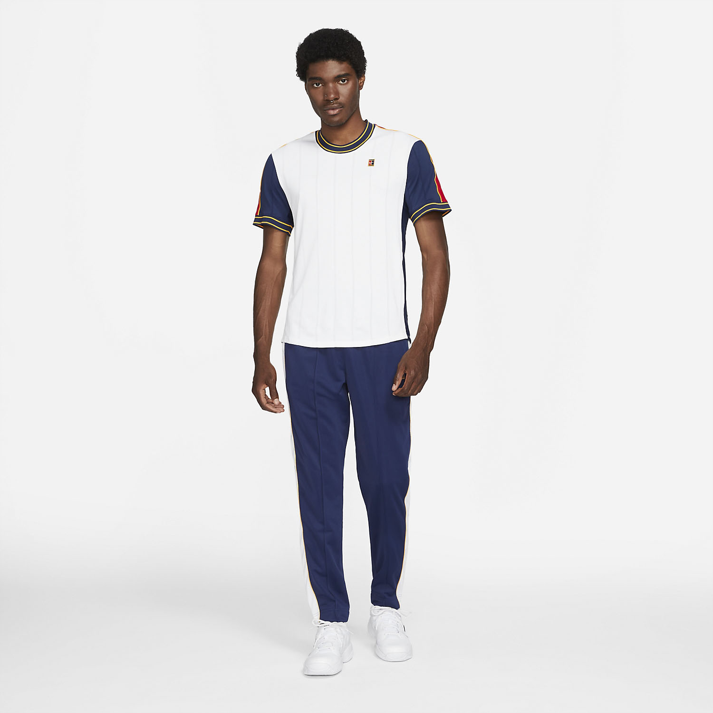 Nike Court Dri-FIT Slam T-Shirt - White/University Red/Binary Blue