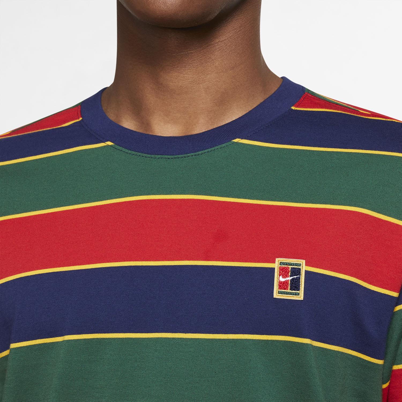 Nike Court Stripe T-Shirt - Binary Blue