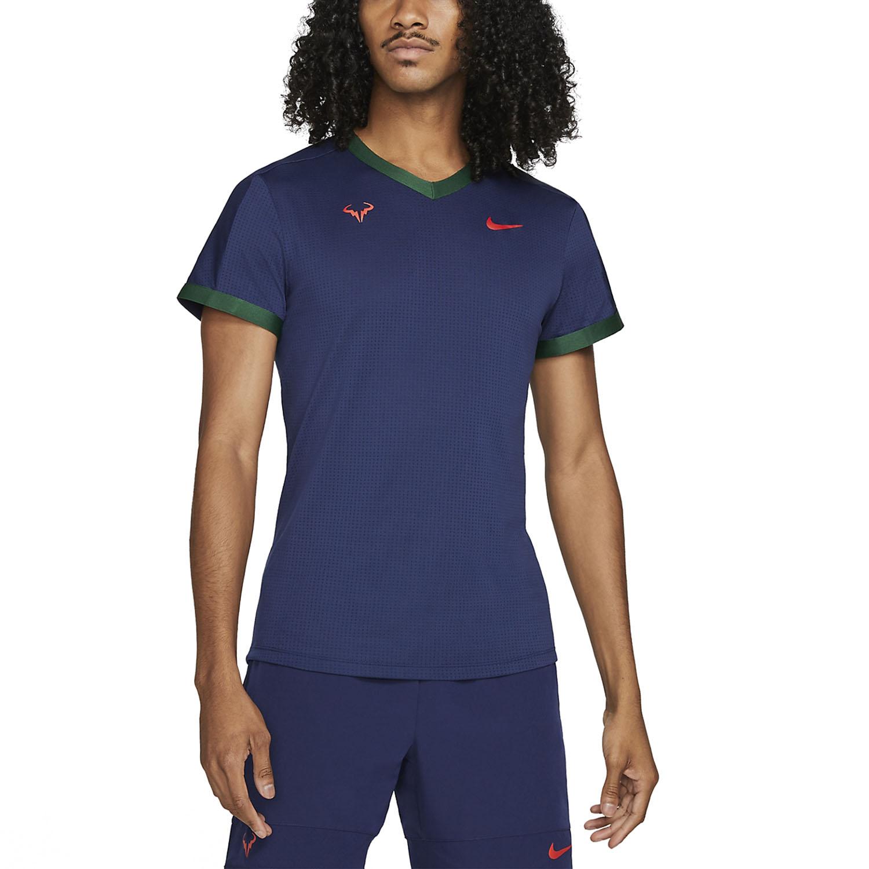 Nike Dri-FIT ADV Rafa T-Shirt - Binary Blue/Gorge Green/Chile Red