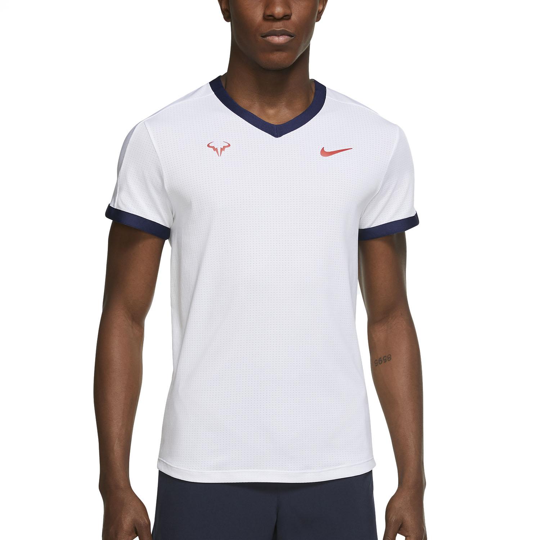 Nike Dri-FIT ADV Rafa T-Shirt - White/Binary Blue/Chile Red