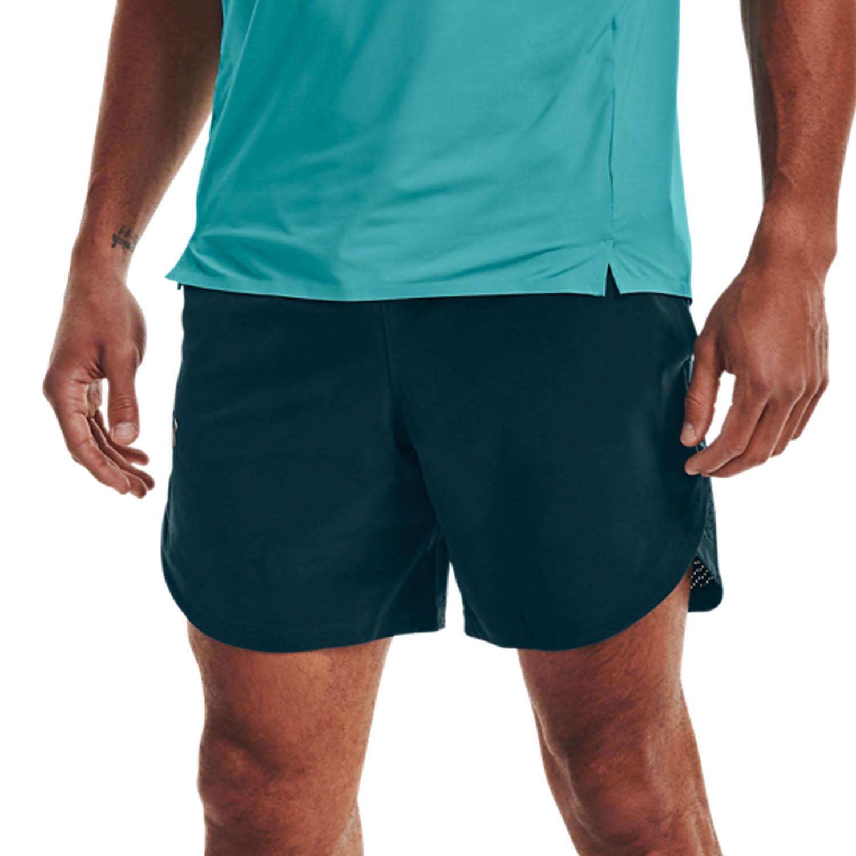 Under Armour Stretch 7in Shorts - Dark Cyan/Metallic Solder