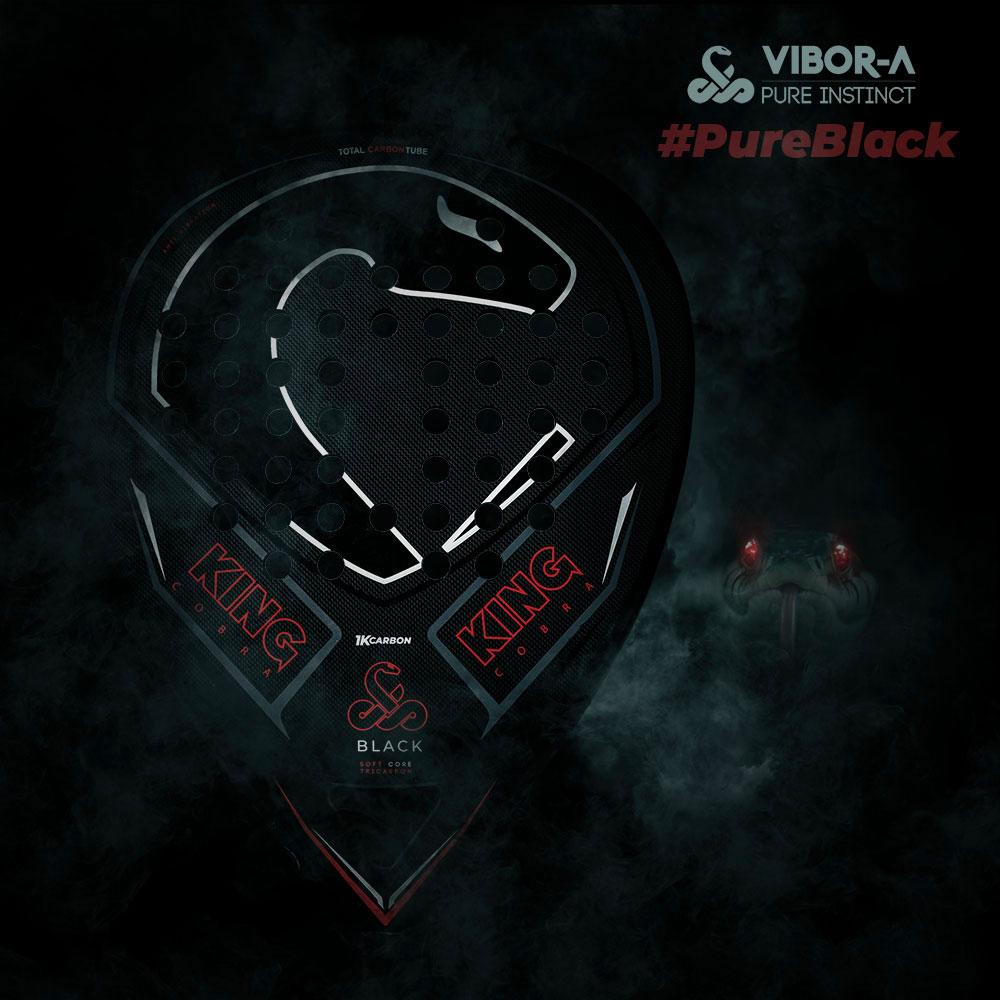 Vibor-A King Cobra Black Edition Padel - Black