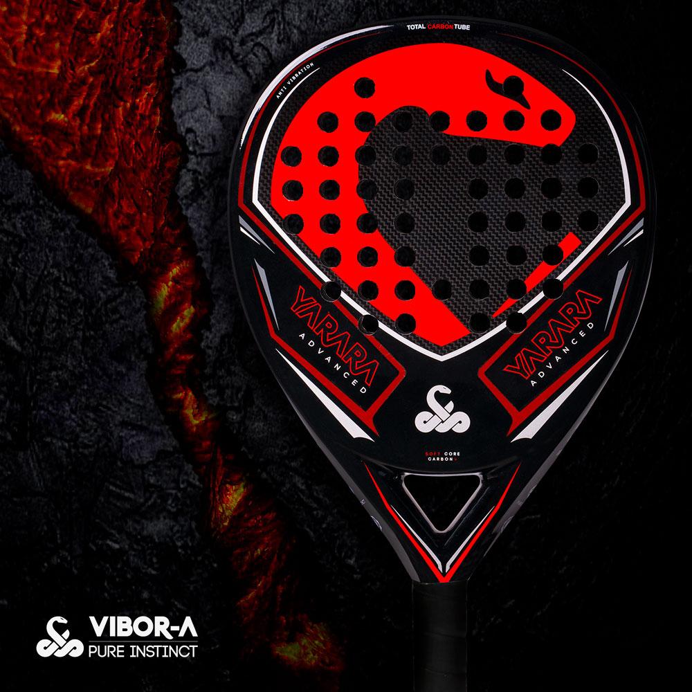 Vibor-A Yarara Advanced Padel - Black/Red