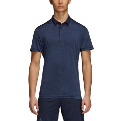 Adidas Adidas Heathered Polo  Dark Blue  Dark Blue D93662