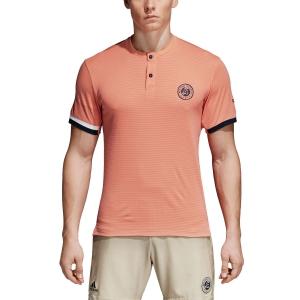 Men's Tennis Shirts Adidas Roland Garros Climachill TShirt  Peach CE1408