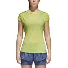 Women`s Tennis T-Shirts and Polos Adidas Melbourne TShirt  Lime CE0399