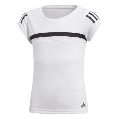 Top and Shirts - Girl Adidas Girl Club TShirt  White/Black CV5907