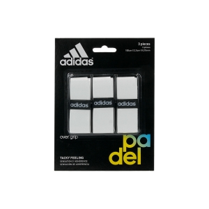 Padel Accessories Adidas Padel Set x 3 Overgrip  White OG01WH