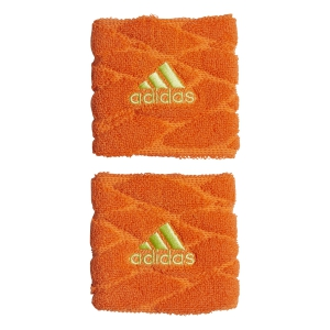 Tennis Head and Wristbands Adidas Braided Small Wristband Womens  Orange/Lime CF6932
