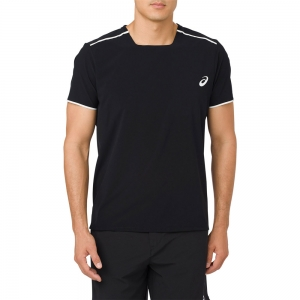 Camisetas de Tenis Hombre Asics Gel Cool TShirt  Black/White 154401.0904