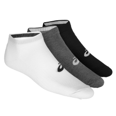 Asics New Quarter x 3 Socks - White