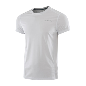 Polos y Camisetas de Tenis Babolat Boy Core Flag Club TShirt  White 3BS180111000