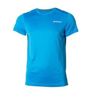 Tennis Polo and Shirts Babolat Boy Core Flag Club TShirt  Blue 3BS180114013