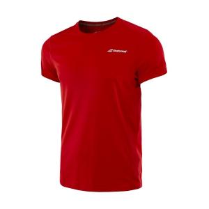 Tennis Polo and Shirts Babolat Boy Core Flag Club TShirt  Red 3BS180115004