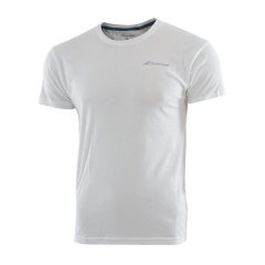 Tennis Polo and Shirts Babolat Boy Core TShirt  White 3BS180141000
