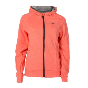 Giacche Tennis Girl Babolat Girl Core Hood Sweat Full Zip Hoodie  Fluo Pink 3GS180415006