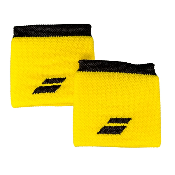 babolat logo tennis wristband yellowblack
