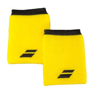 Tennis Head and Wristbands Babolat Logo Jumbo Wristband  Yellow/Black 5US182627001