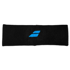 Tennis Head and Wristbands Babolat Logo Headband  Black/Blue 5US183012004