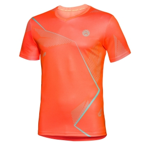 Camisetas de Tenis Hombre Bidi Badu Imany Tech VNeck TShirt  Fluo Orange 001122NORGR