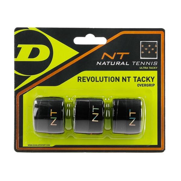 Dunlop Revolution NT Tacky Overgrip x3 - Black 307087