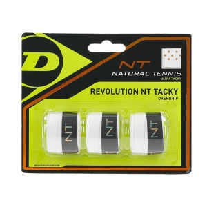 Sobregrip Dunlop Revolution NT Tacky Overgrip x3  White 307086