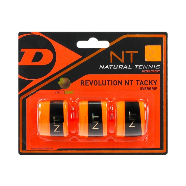 Dunlop Revolution NT Tacky Overgrip x3 - Orange 613247