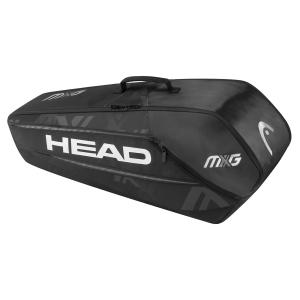Tennis Bag Head MxG x 6 Combi Bag  Black/Silver 283728 BKSI