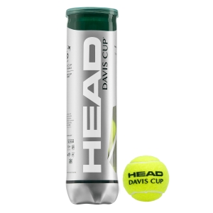 Head Tennis Balls Head Davis Cup  4 Ball Can 571354
