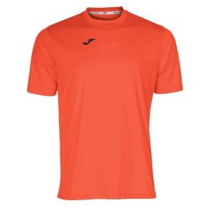 Maglietta Tennis Uomo Joma Combi TShirt  Fluo Coral/Black 100052.040