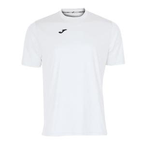 Maglietta Tennis Uomo Joma Combi TShirt  White/Black 100052.200