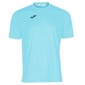 Maglietta Tennis Uomo Joma Combi TShirt  Light Blue/Black 100052.350