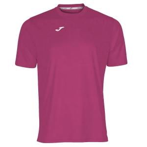 Maglietta Tennis Uomo Joma Combi TShirt  Pink/White 100052.500