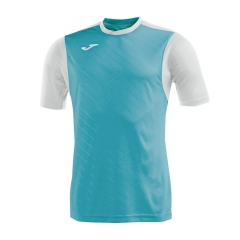 Tennis Polo and Shirts Joma Boy Torneo II TShirt  Turquoise/White 100637.010
