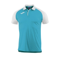 Tennis Polo and Shirts Joma Boy Torneo II Polo  Turquoise/White 100639.010