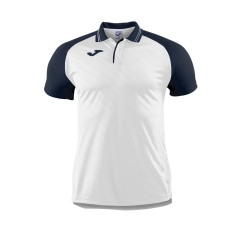 Tennis Polo and Shirts Joma Boy Torneo II Polo  White/Navy 100639.203