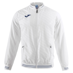 Tennis Jackets for Boys Joma Boy Torneo II Jacket  White/Navy 100820.200