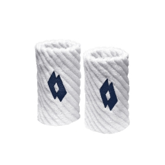 Tennis Head and Wristbands Lotto Twist Wristbands  White/Navy S7066