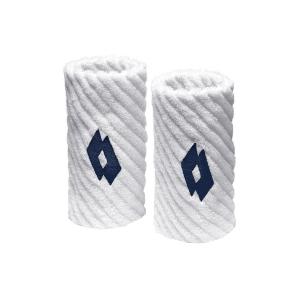 Tennis Head and Wristbands Lotto Twist Wristbands  White/Navy S7082