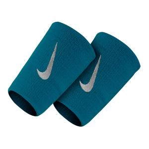 Fasce e Polsini Tennis Nike Premier DoubleWide Wristbands  GreenAbyss/White N.NN.51.359.OS