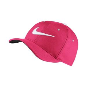 Tennis Hats and Visors Nike Junior AeroBill Classic 99 Cap  Fuxia/White 872686666