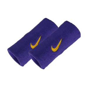Tennis Head and Wristbands Nike DoubleWide Swoosh Wristband  Purple/Yellow N.NN.05.512.OS