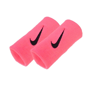 Tennis Head and Wristbands Nike Premier DoubleWide Wristbands  Fluo Pink/Black N.NN.51.681.OS