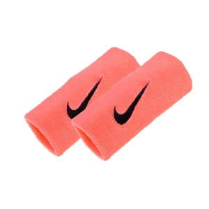 Tennis Head and Wristbands Nike Premier DoubleWide Wristbands  Peach N.NN.51.635.OS
