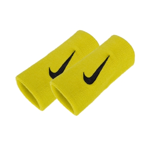 Tennis Head and Wristbands Nike Premier DoubleWide Wristbands  Yellow/Black N.NN.51.741.OS