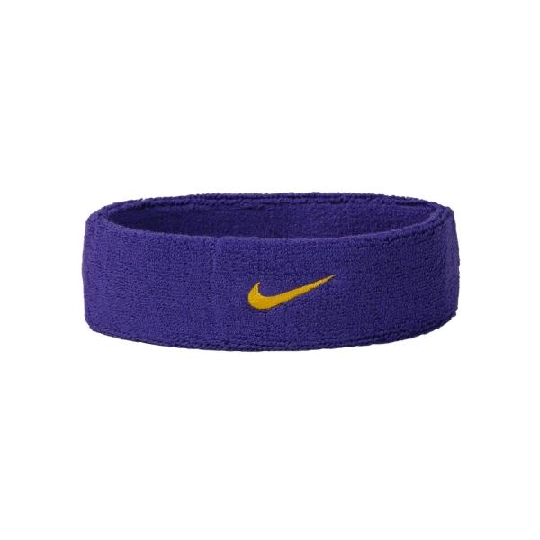 Nike Swoosh Tennis Headband Purple Yellow