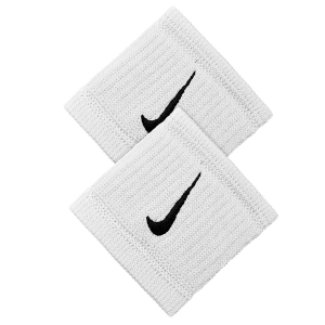 Fasce e Polsini Tennis Nike DriFit Reveal Wristbands  White/Black N.NN.J0.114.OS