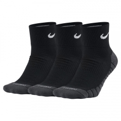 Tennis Socks Nike Dry Cushion Quarter x 3 Socks  Black/Grey SX5549010