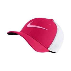 Tennis Hats and Visors Nike Junior AeroBill Classic 99 Mesh Cap  Fuxia/White 849531666