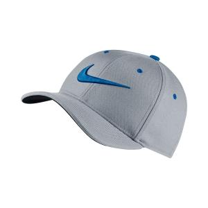 Tennis Hats and Visors Nike Junior AeroBill Classic 99 Cap  Grey/Blue 872686012